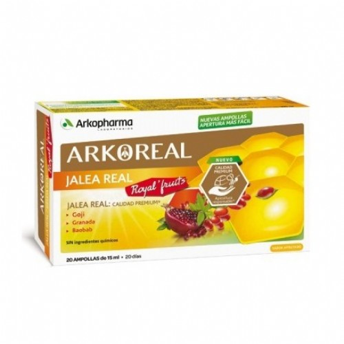 Arkoreal jalea real royal fruits (20 ampollas)