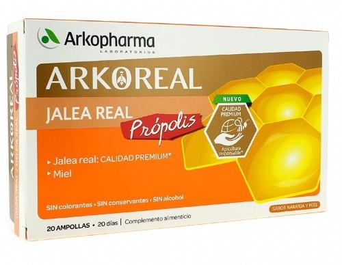 ARKOREAL JALEA REAL 1000 +PROPOLIS AMPOLLA BEBI (15 ML 20 AMP)