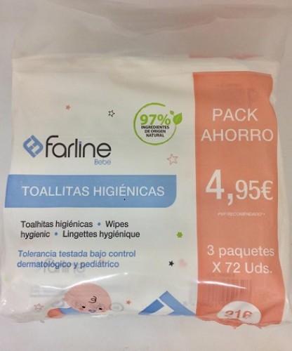 Farline tri-pack toallitas bebe