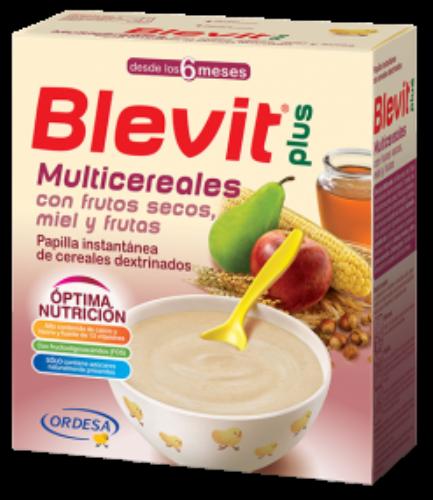 BLEVIT PLUS MIEL FRUTOS SECOS Y FRUTAS - MULTICEREALES (600 G)