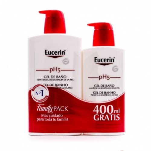EUCERIN PACK GEL BAÑO 1L+400ML