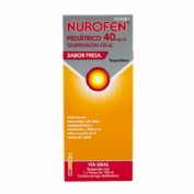 NUROFEN PEDIATRICO 40 MG/ML SUSPENSION ORAL SABOR FRESA , frasco de 150 ml