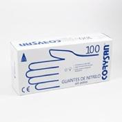 Guantes de nitrilo para exploracion - corysan ambidiestro no esteril (100 unidades talla grande)