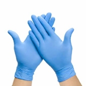 Guantes nitrilo talla l azul