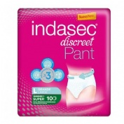 INDASEC PANT SUPER ABSORB INC ORINA DIA ANAT (T- L 10 ABSORB)