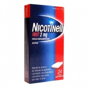 NICOTINELL FRUIT 2 mg CHICLE MEDICAMENTOSO , 24 chicles