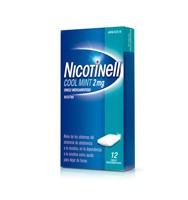 NICOTINELL COOL MINT 2 mg CHICLE MEDICAMENTOSO, 12 chicles