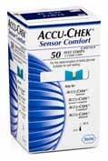 TIRAS REACTIVAS GLUCEMIA - ACCU-CHEK SENSOR COMFORT (50 U)