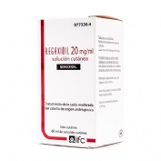 REGAXIDIL 20 mg/ml SOLUCION CUTANEA , 1 frasco de 60 ml