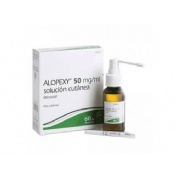 ALOPEXY 20 mg/ml, SOLUCION CUTANEA , 1 frasco de 60 ml (PET)